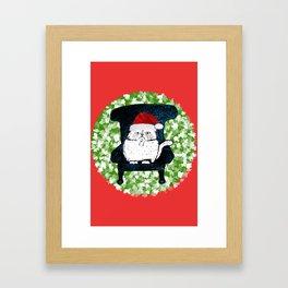 My Cat's Christmas Framed Art Print