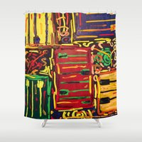piano Shower Curtains featuring Piano by Gabrielle Donofrio