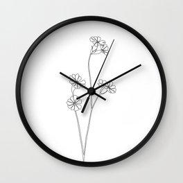 Wild flower botanical drawing - Ilana Wall Clock