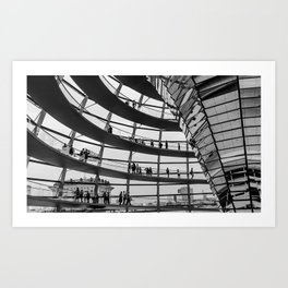 Bundestag Berlin Art Print