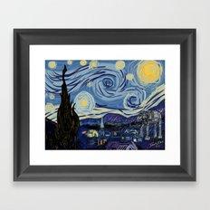 Starry Wars Night Framed Art Print