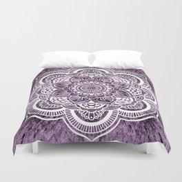 Mandala Grayish Purple Colorburst Duvet Cover