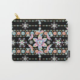 Folkloric Snowflakes Carry-All Pouch