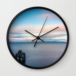 Here I stand (Hvítserkur) Wall Clock