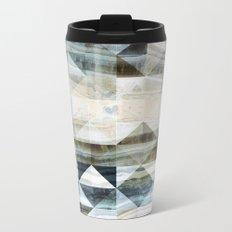 Geo Marble - Natural and Blue #buyart #marble Metal Travel Mug