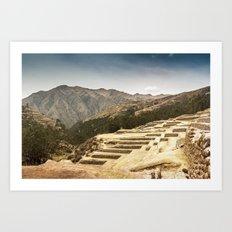 Incan Terraces II Art Print