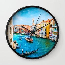 Italy. Venice lazy day Wall Clock
