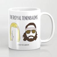 royal tenenbaums Mugs featuring The Royal Tenenbaums by gokce inan