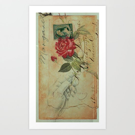 COLLAGE LOVE: The Memory of an Old Romance Art Print