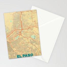 El Paso Map Retro Stationery Cards