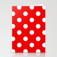 polka dots Stationery Cards featuring Polka dots  by MIKITCHU