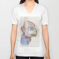 the dude V-neck T-shirts featuring Dude by Zorko
