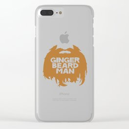 ginger beard Clear iPhone Case