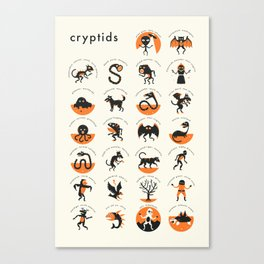CRYPTIDS A-Z Canvas Print