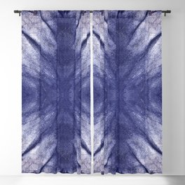 Indigo Mandala by Juul Blackout Curtain