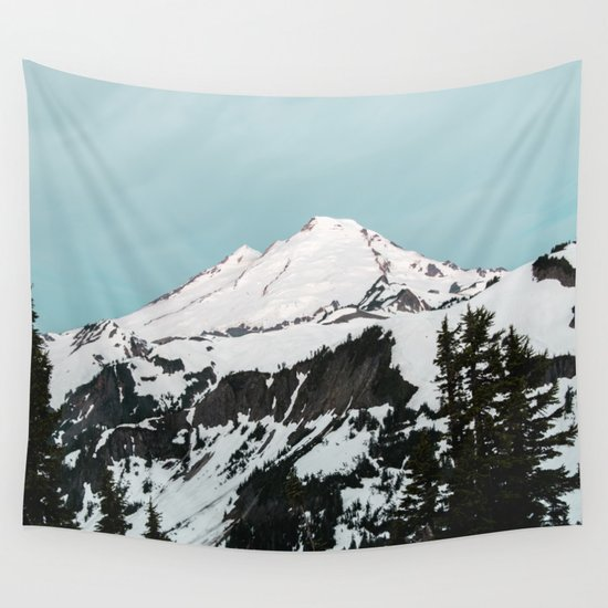 Turquoise sky mt baker wall tapestry by cascadia society6 for Chair 6 mt baker