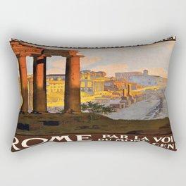 Vintage poster - Rome Rectangular Pillow