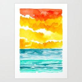 Abstract Seascape VI Art Print