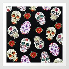 Sugar Skull Pattern Art Print