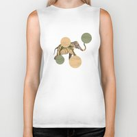 polka Biker Tanks featuring Elephant Polka by Paula Belle Flores