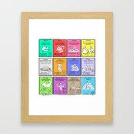 Zodiac (Awkward IRL #9) Framed Art Print