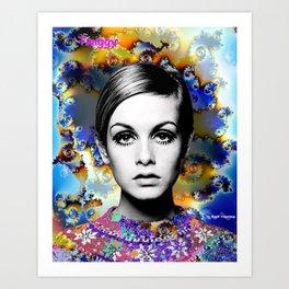 Twiggy Mix. Art Print