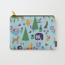 Folk Art Woodlands Carry-All Pouch