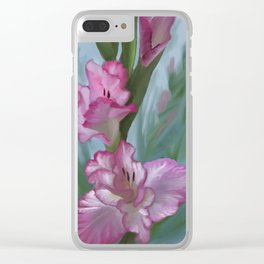 Gladiolus Clear iPhone Case