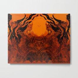 Skull Chieftain Fiery Bellow [Digital Figure Illustration] Metal Print