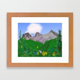 Three Sisters Mountain Canmore Alberta Framed Art Print