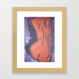 Vermillion Skin Framed Art Print