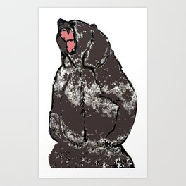 He's a bear in a bad mood Art Print