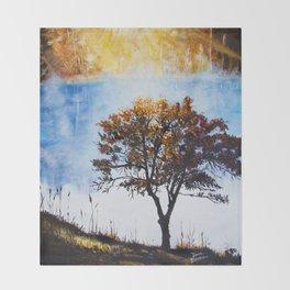 "Original Painting ""Foggy Sunrise"" Throw Blanket"