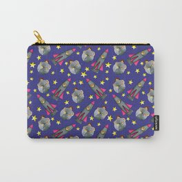 Put Your Arms Around The Moon Rocket Girl Carry-All Pouch