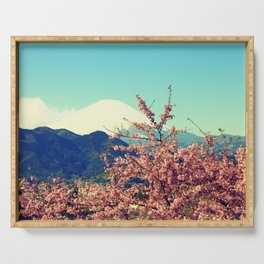 Mountains & Flowers Landscape Serving Tray