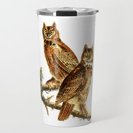 Great Horned Owl - Hoot Owl Travel Mug