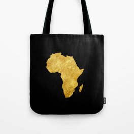 Gold Africa Tote Bag