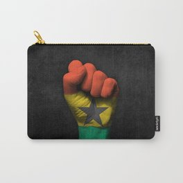 Ghana Flag on a Raised Clenched Fist Carry-All Pouch