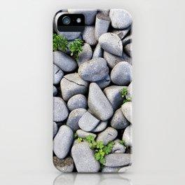 Sea Stones - Gray Rocks, Texture, Pattern iPhone Case
