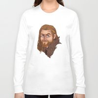 fili Long Sleeve T-shirts featuring Fili - Dean O'gorman  by Blanca Limón