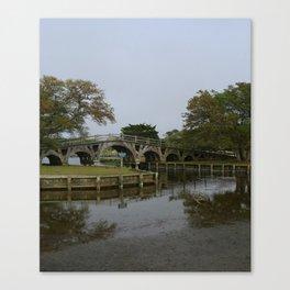 Historic Wooden Bridge At Currituck Light Station Canvas Print