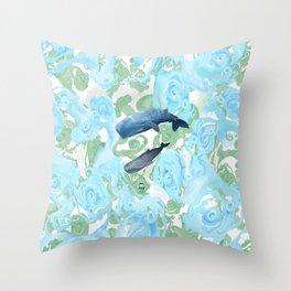 Underwater Giants Throw Pillow
