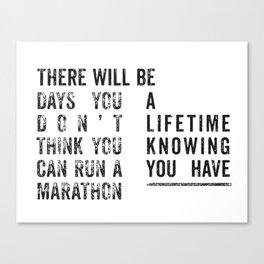 Run a Marathon Canvas Print