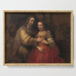 "Isaak and Rebekka, known as ""The Jewish Bride"" - Rembrandt van Rijn (1665 - 1669) Serving Tray"