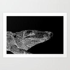 Croc Stamp Art Print