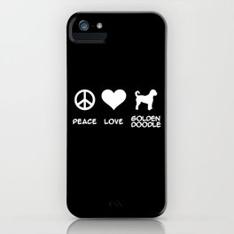 Peace, Love, Goldendoodle iPhone Case