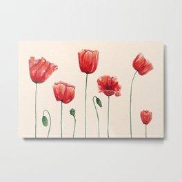 Poppies Time Metal Print