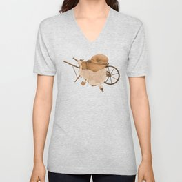 The Geese and the Pumpkin Unisex V-Neck