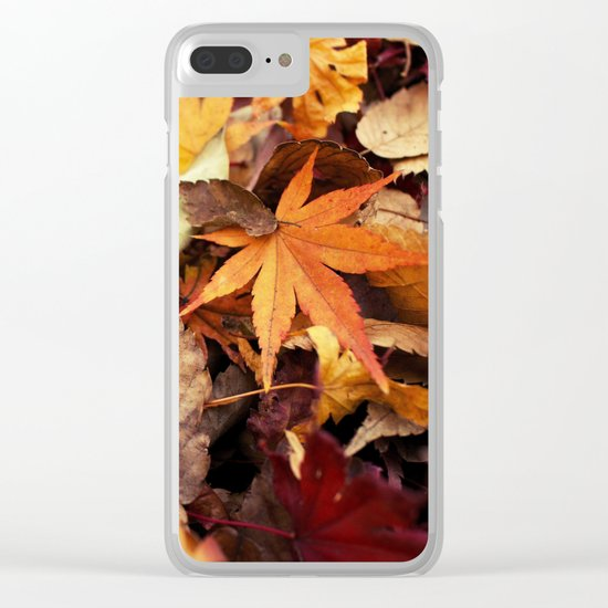 Indian Summer - Colorful Autumn Leaves Clear iPhone Case