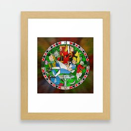Alice Through the Stained Glass Framed Art Print